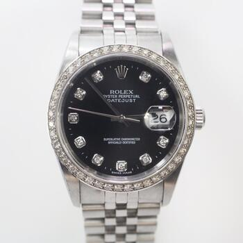 Rolex DateJust 1.00ct TW Diamond Watch- Evaluated By Independent Specialist