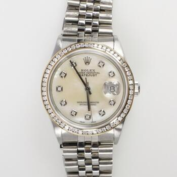 Rolex DateJust 1.18ct TW Diamond Watch - Evaluated By Independent Specialist