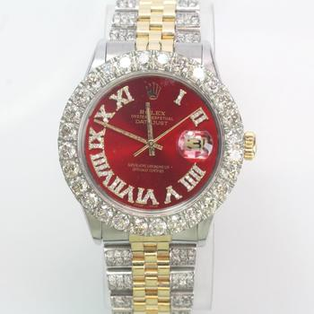 Rolex DateJust 7.56ct TW Diamond Watch - Evaluated By Independent Specialist