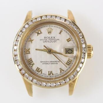 Rolex DateJust Diamond & 18k Gold Watch - Evaluated By Independent Specialist