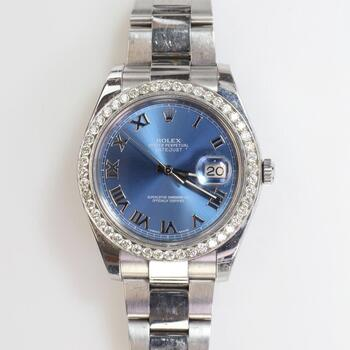 Rolex DateJust II 2.4ct TW Diamond Watch - Evaluated By Independent Specialist