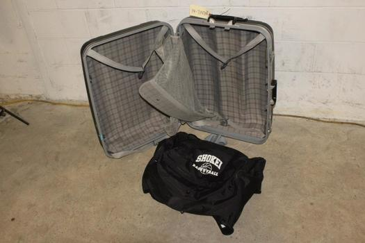 Rolling Suitcase And More, 2 Pieces
