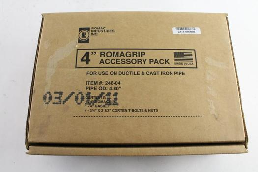 """Romac Industries 4"""" Romagrip Acessory Pack, For Ductile And Cast Iron Pipes"""