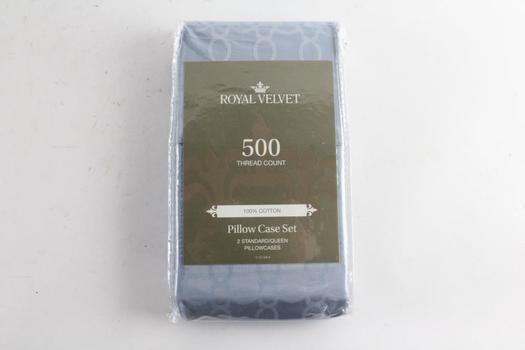 Royal Velvet 500 Thread Count 2 Pillow Case Set, Standard/Queen