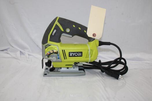 Ryobi 4.8 Amp Corded Varialbel Speed Orbital Jig Saw (Model JS481LG)