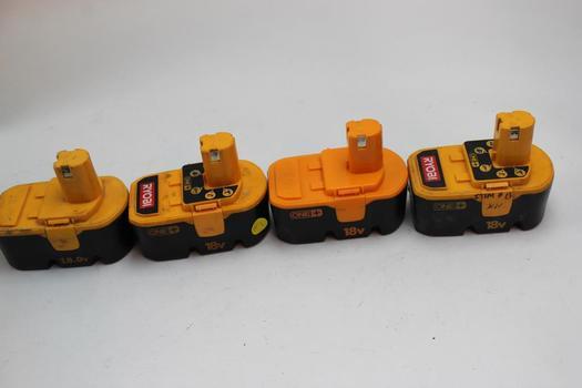 Ryobi Batteries 4 Pieces