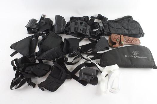 Safariland And Other Sidearm Holsters, 10+ Pieces