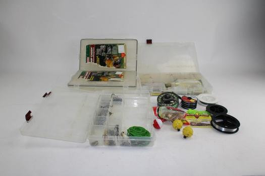Sage 1850 Flying Reel, Fishing Lures, Organizers, & More In Mills Fleet Farm Case; 5+ Pieces