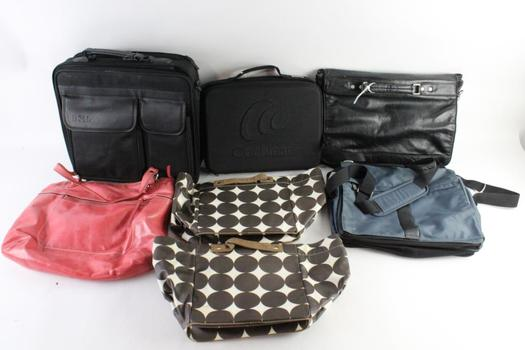 Samsonite And Other Brand Mesenger Bags, And More, 7 Pieces