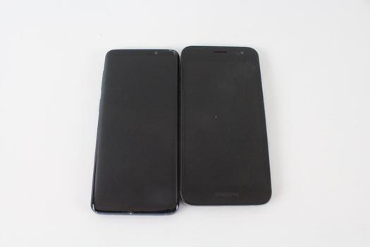 Samsung Cell Phone Lot, 2 Pieces, Sold For Parts