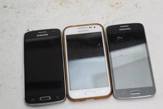 Samsung Cell Phone Lot,  3 Pieces, Sold For Parts
