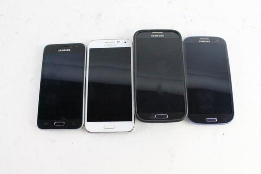 Samsung Cell Phone Lot, 4 Pieces, Sold For Parts