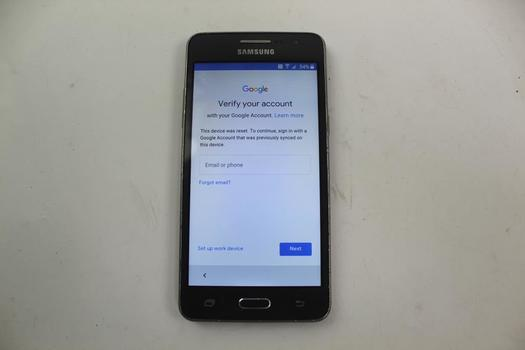 Samsung Galaxy Grand Prime, 8GB, T-Mobile, Google Account Locked, Sold For Parts