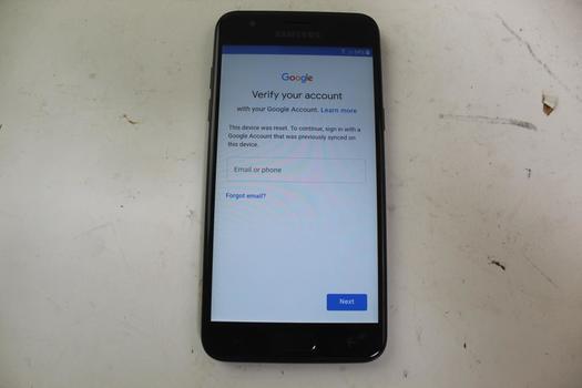 Samsung Galaxy J3 V, 16GB, Verizon, Google Account Locked, Sold For Parts