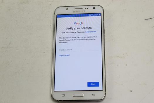 Samsung Galaxy J7, 16GB, MetroPCS, Google Account Locked, Sold For Parts