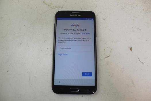 Samsung Galaxy J7 Sky Pro, 16GB, TracFone Wireless, Google Account Locked, Sold For Parts