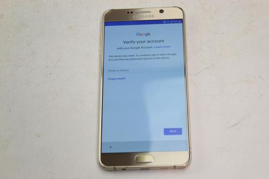 Samsung Galaxy Note 5, 32GB, T-Mobile, Google Account Locked, Sold For Parts