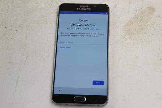 Samsung Galaxy Note 5, 32GB, Verizon, Google Account Locked, Sold For Parts