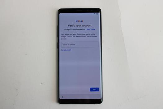 Samsung Galaxy Note 8, 64GB, T-Mobile, Google Account Locked, Sold For Parts