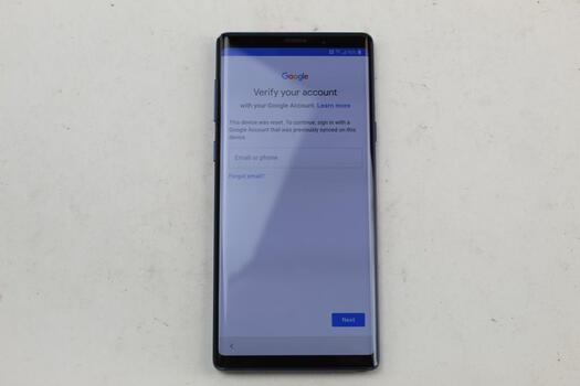 Samsung Galaxy Note 9, 128GB, T-Mobile, Google Account Locked, Sold For Parts