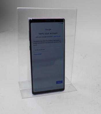 Samsung Galaxy Note 9, 128GB, Verizon, Google Account Locked, Sold For Parts