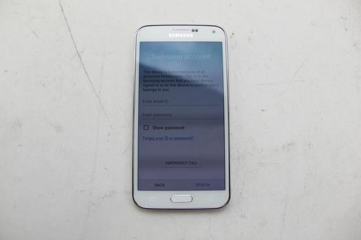 Samsung Galaxy S5, 16GB, AT&T, Samsung Account Locked, Sold For Parts