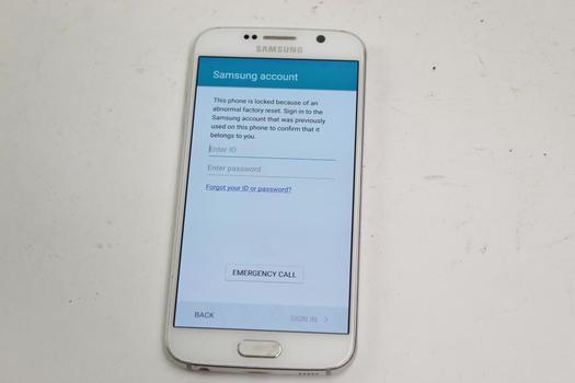Samsung Galaxy S6, 32GB, Verizon, Samsung Account Locked, Sold For Parts