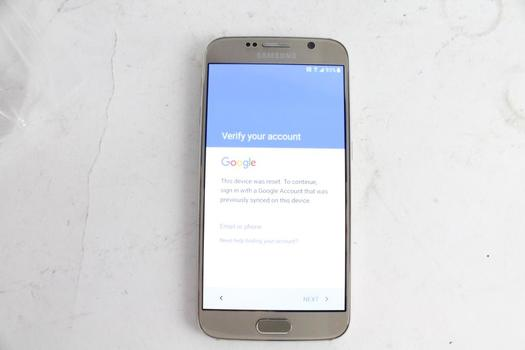 Samsung Galaxy S6, Google Account Locked, Sold For Parts