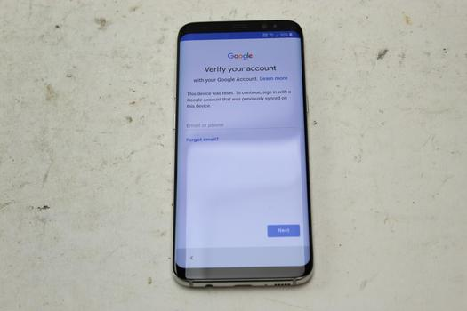 Samsung Galaxy S8, 64GB, AT&T, Google Account Locked, Sold For Parts
