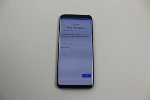 Samsung Galaxy S8, 64GB, MetroPCS, Google Account Locked, Sold For Parts