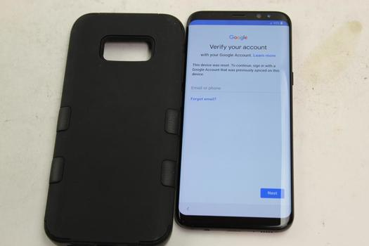 Samsung Galaxy S8 Plus, 64GB, Sprint, Google Account Locked, Sold For Parts