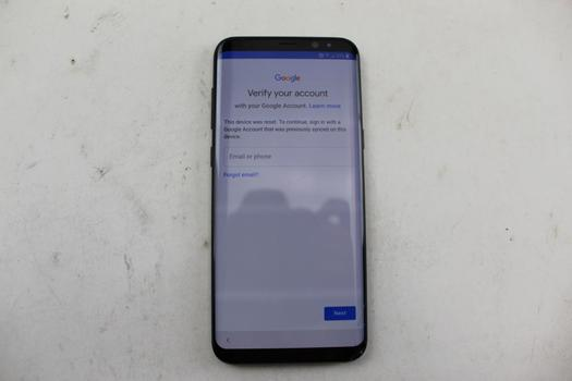 Samsung Galaxy S8 Plus, 64GB, T-Mobile, Google Account Locked, Sold For Parts