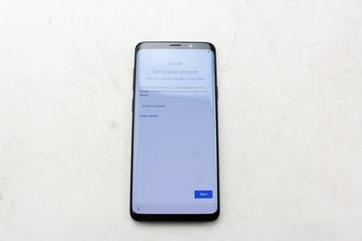 Samsung Galaxy S9 Plus, 64GB, Sprint, Google Account Locked, Sold For Parts