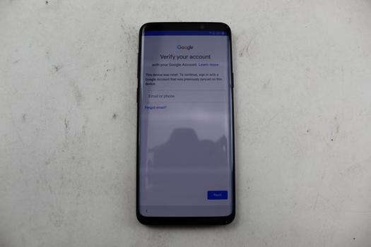 Samsung Galaxy S9 Plus, 64GB, Unknown Carrier, Google Account Locked, Sold For Parts