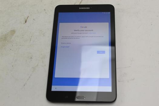Samsung Galaxy Tab E 8.0, 16GB, AT&T, Google Account Locked, Sold For Parts