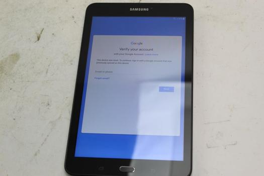 Samsung Galaxy Tab E 8.0, 16GB, T-Mobile, Google Account Locked, Sold For Parts