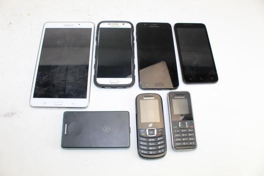 Samsung Phones & Tablet, Zte Phone, & Zune Mp3 Player; 7 Pieces