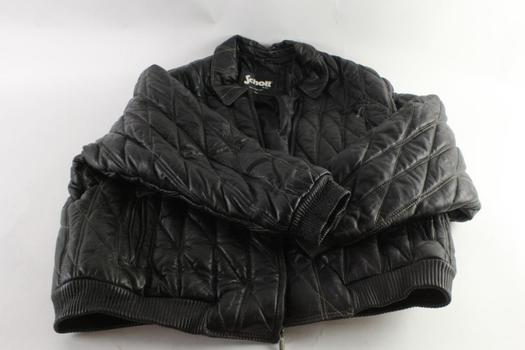 Schott Leather Jacket, Size 6XL