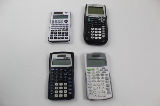 Scientific Calculators: Texas Instruments, HP: 4 Items