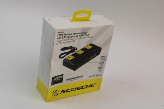 Scosche 200w Portable Power Inverter