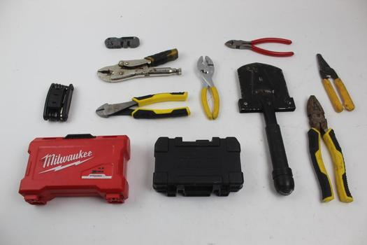 Screw Bits, Screwdrivers, Locking Pliers And More: Stanley, Craftsman: 10+ Items