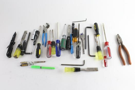 Screwdrivers, Chisel, And More, 15+ Pieces