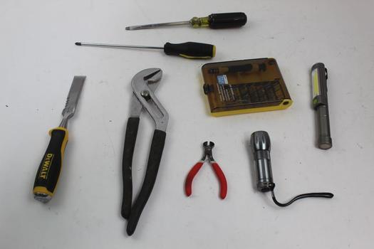 Screwdrivers, Tie Straps, Pliers Plier And More: Husky, DeWalt: 5+ Items