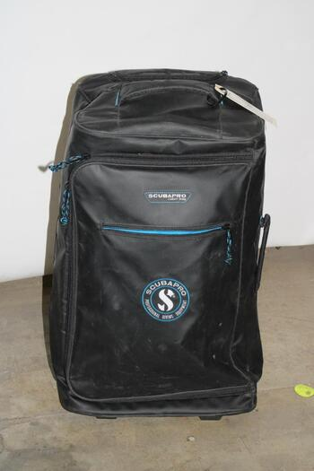 Scubapro Black Leather Trolley Bag With Scuba Accessories, 5+ Pieces
