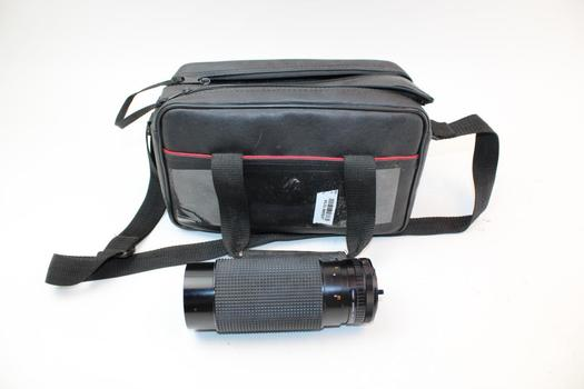 Sears Camera Lens In Black Zip Bag