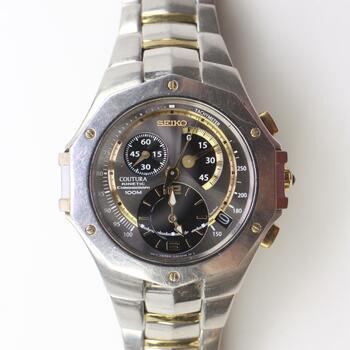 Seiko Coutura Kinetic Chronograph Watch