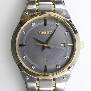 Seiko Solar Stainless Steel Watch