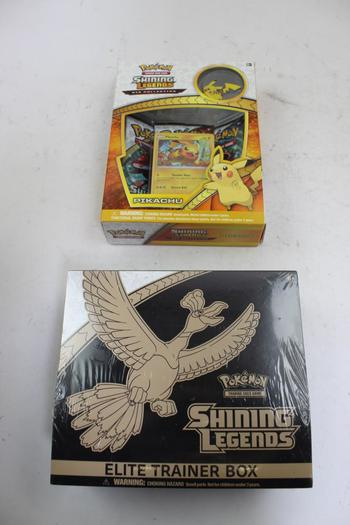Shining Legends Pokemon Trading Cards: Elite Trainer Box, Pikachu: 2 Items