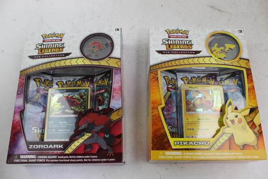 Shining Legends Pokemon Trading Cards: Pikachu, Zoroark: 2 Items