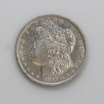 Silver 1890 O Morgan Dollar